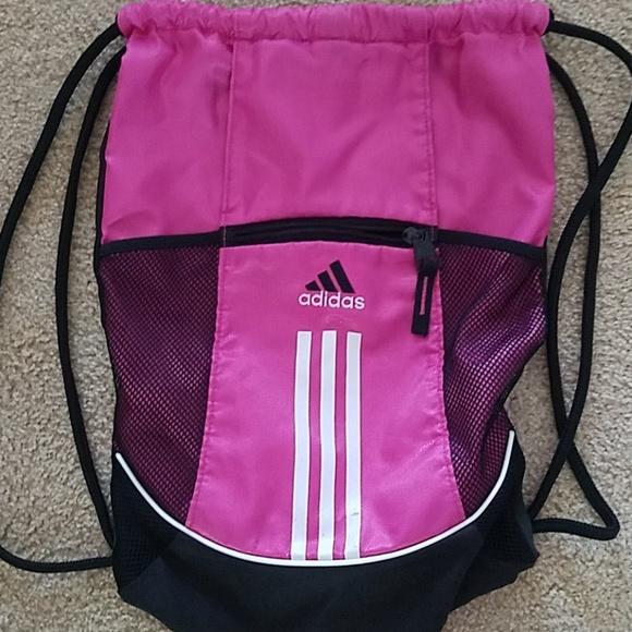 c2eb72401e4855 adidas Bags | Cute Pink String Bag | Poshmark